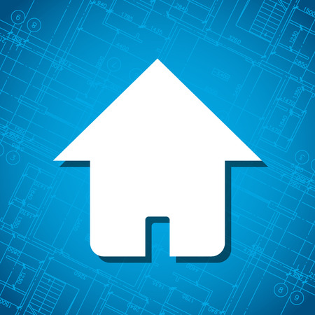 housing project: Blueprint home icon