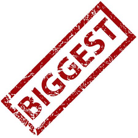 biggest: Biggest rubber stamp