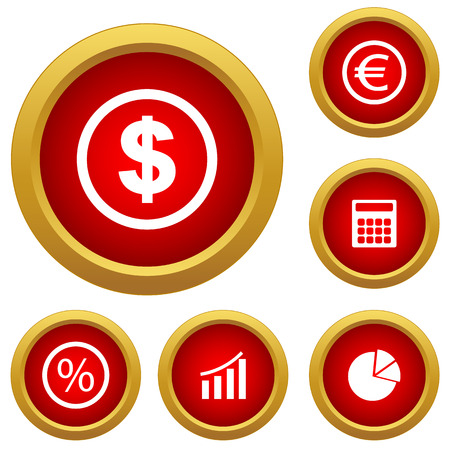 Finance set icon Vector