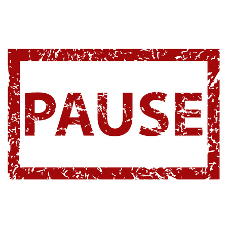 Pause rubber stamp