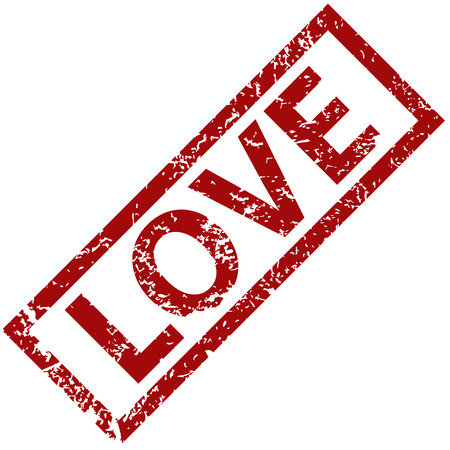 love stamp: Love rubber stamp