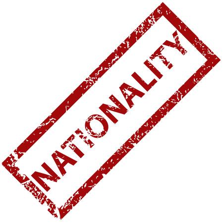 nationality: Nationality rubber stamp Illustration