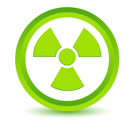 nuclear icon: Green nuclear icon