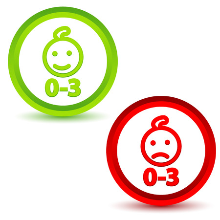 Children under three years icons Vector