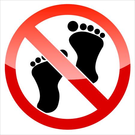 Prohibition signal feet Vector