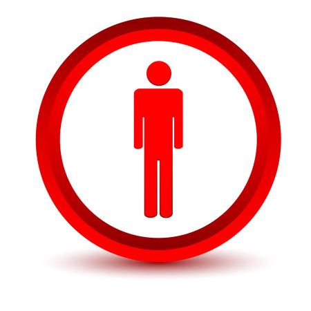 uomo rosso: Uomo icona Red