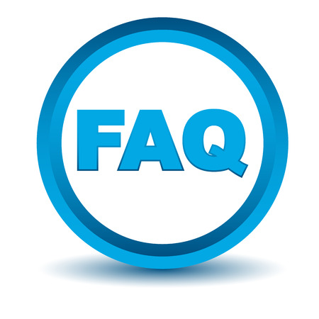 faq icon: Icono faq Azul