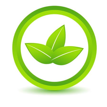 bionomics: Green leafs icon
