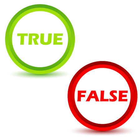 True false icons set Illustration