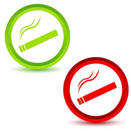 smoking place: Smoking icons set