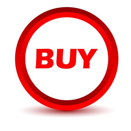 buy icon: Red buy icon Illustration