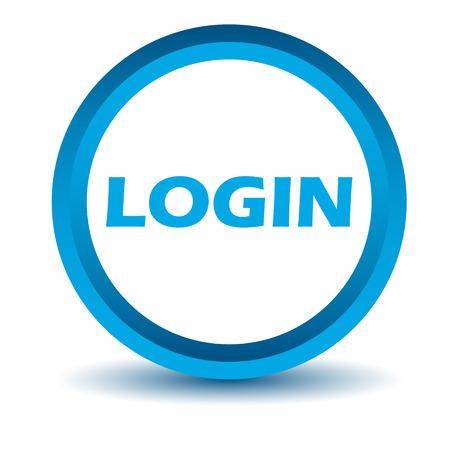 login icon: Blue login icon