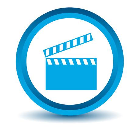 blue film: Blue film icon Illustration
