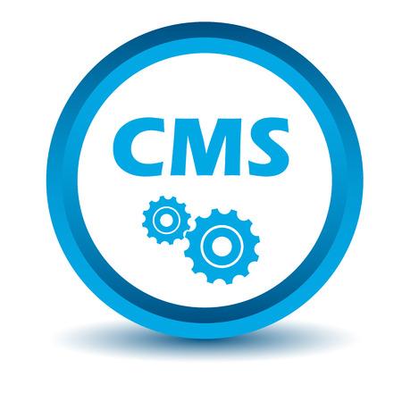 cms: Blue cms icon Illustration