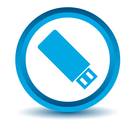 flash drive: Blue flash drive icon