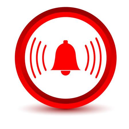alarmclock: Red alarmclock icon Illustration