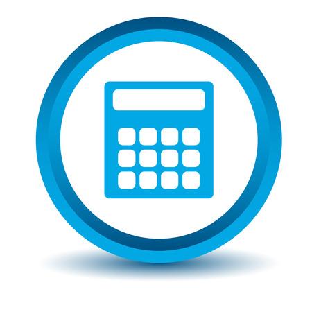 numerate: Blue calculator icon
