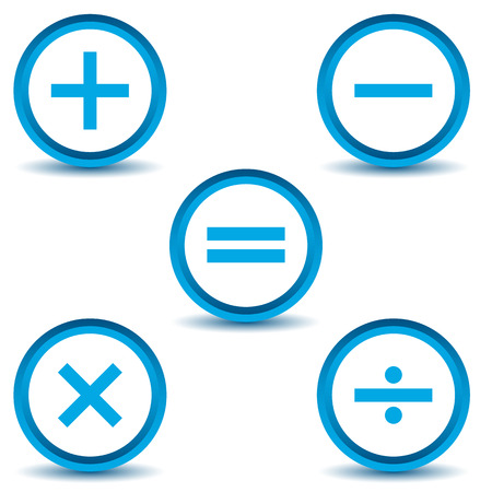 Calculator icons set Vector