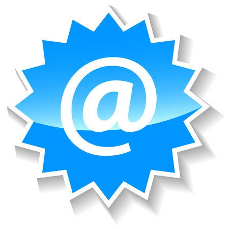 e new: Email blue icon