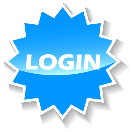 Login web blue icon on a white background. Vector Illustration Vector