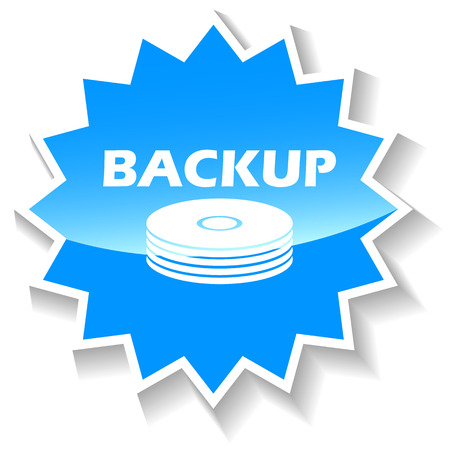 backup: Backup blue icon Illustration