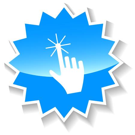 clack: Click blue icon