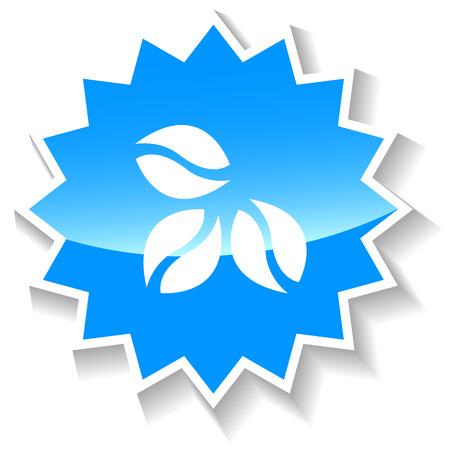 coffe: Coffe grain blue icon