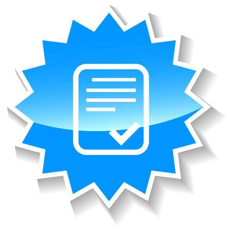 verification: Document blue icon