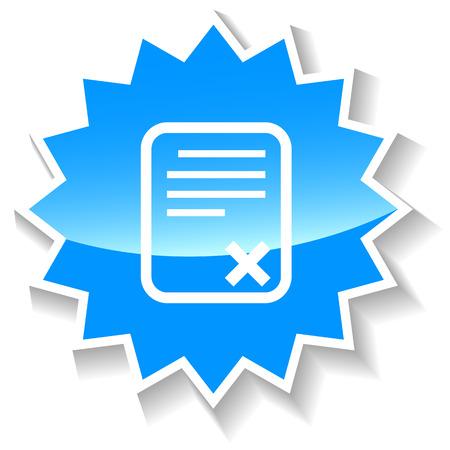 adopting: Bad document blue icon