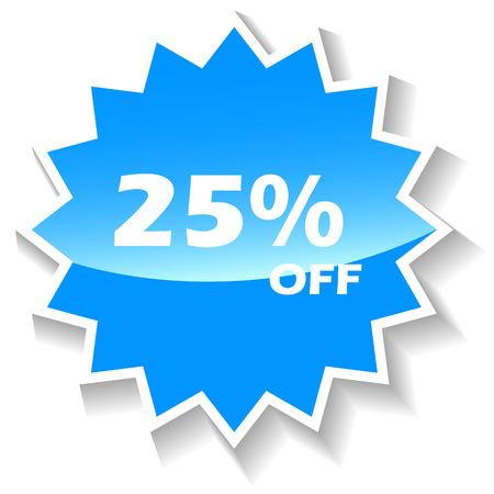 Discount blue icon Vector
