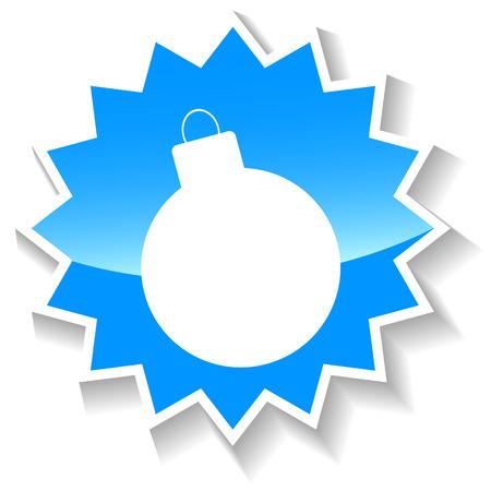 Bomb blue icon Illustration