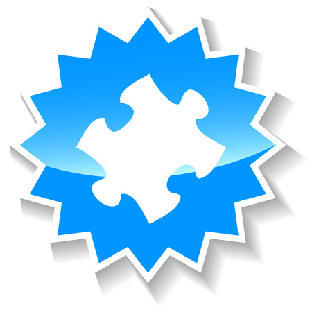 teaser: Puzzle blue icon Illustration
