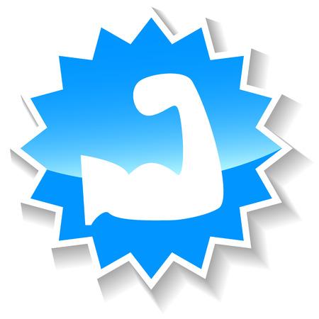 Strength blue icon Illustration
