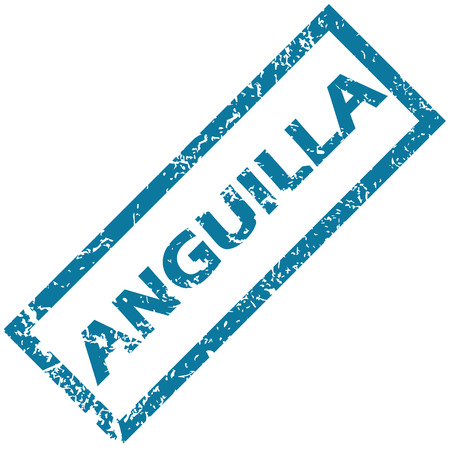unclean: Anguilla grunge rubber stamp on a white background. Vector illustration