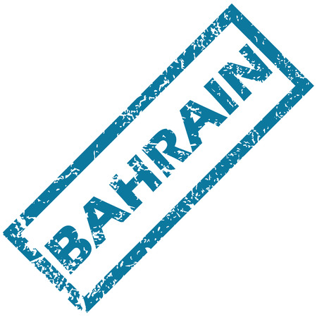 unclean: Bahrain grunge rubber stamp on a white background. Vector illustration
