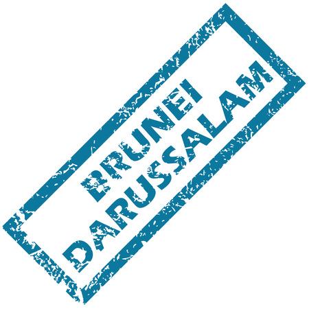 brunei darussalam: Brunei Darussalam grunge rubber stamp on a white background. Vector illustration