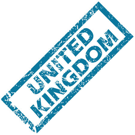 unclean: United Kingdom grunge rubber stamp on a white background. Vector illustration