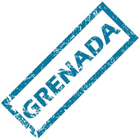 grenada: Grenada rubber stamp Illustration