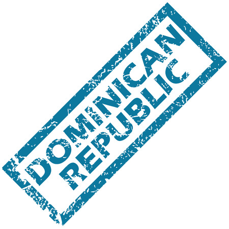 dominican republic: Dominican Republic rubber stamp