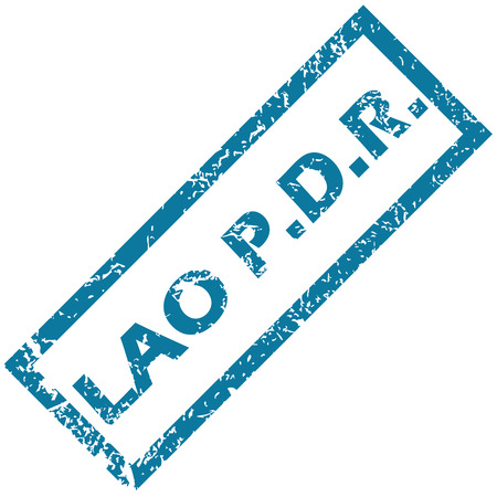 lao: Lao rubber stamp Illustration