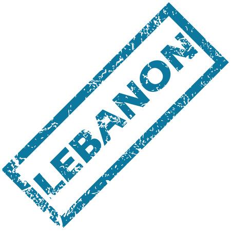 lebanon: Lebanon rubber stamp Illustration