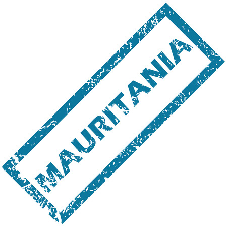 unclean: Mauritania rubber stamp Illustration