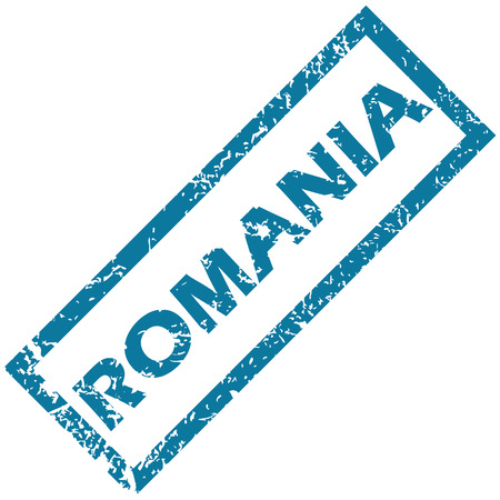 splashed: Romania rubber stamp Illustration