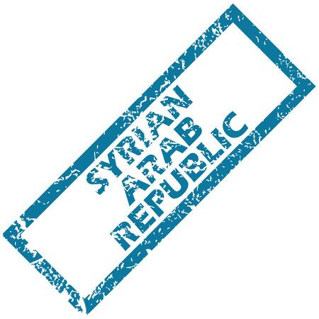 Syryjski: Syryjska Republika Arabska Ilustracja
