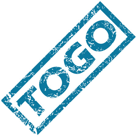 unclean: Togo rubber stamp Illustration