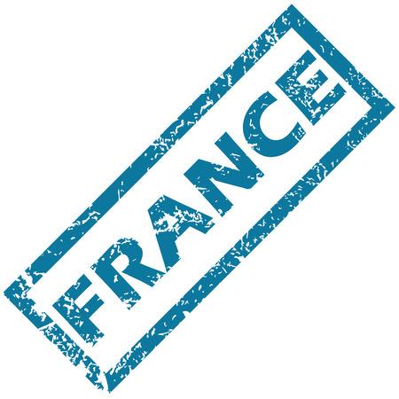france stamp: France rubber stamp Illustration