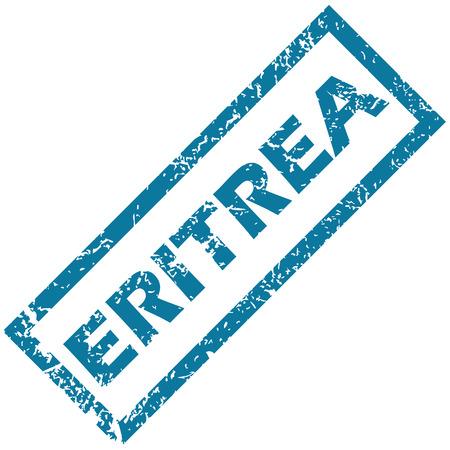 eritrea: Eritrea rubber stamp Illustration