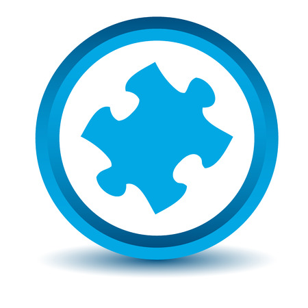 teaser: Blue puzzle icon Illustration