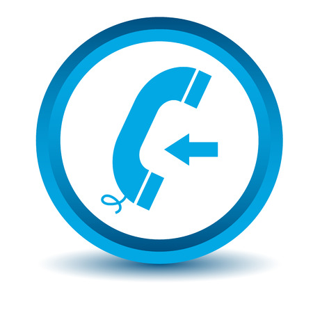 incoming: Blue incoming call icon Illustration
