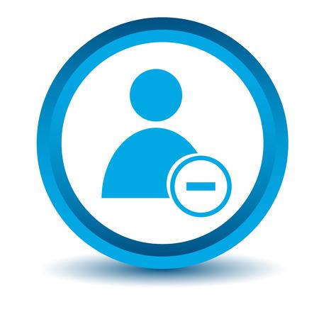 remove: Blue remove user icon